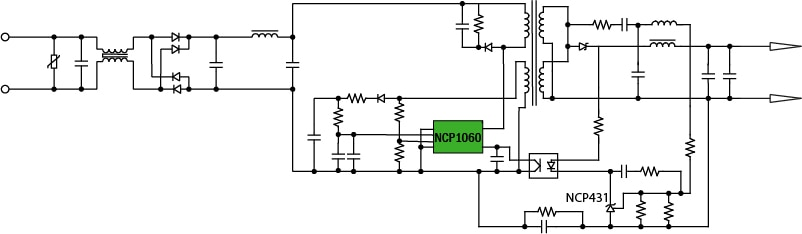 5 w flyback block diagram