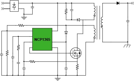 12 W Adapter- NCP1365; Smartphone/Tablet Block Diagram