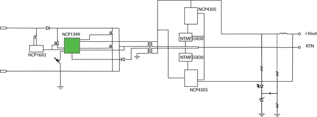 NCP1399 block diagram