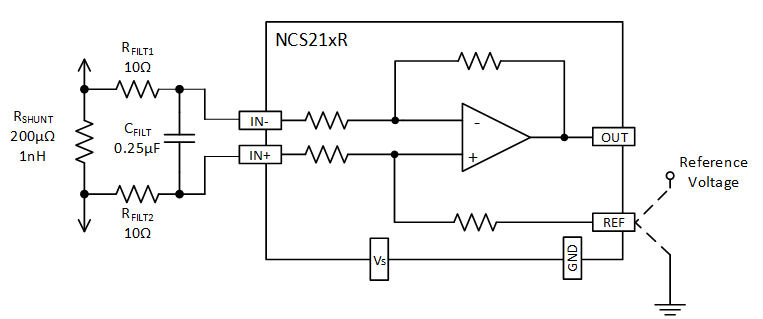 Current Sense Amplifiers Input And Output Filtering