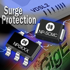 NP-MC series - a new family of ultra-low capacitance Thyristor Surge Protection Devices (TSPDs) that provide protection to sensitive electronic equipment from transient overvoltage conditions.