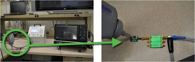 ESD Screenshot - test setup photo