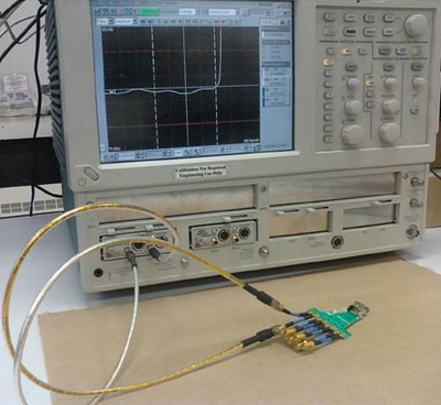 TDR Test Setup photo