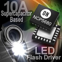 NCP5680 supercapacitor-optimized LED flash driver