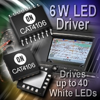 CAT4106 6-Watt LED driver with Integrated dc-dc boost converter