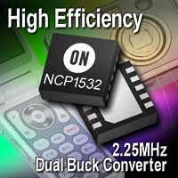Buck Converter, DC-DC, Dual, Low Iq, High Efficiency, 2.25 MHz, 1.6 A Image
