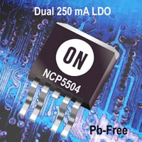 Linear Voltage Regulator, LDO, Dual Output, 250 mA