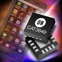 CAT3649, a 6-channel, high efficiency Quad-Mode® LED driver