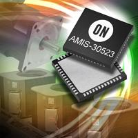Image of the new AMIS-30523 which integrates a stepper motor driver and CAN transceiver in a single package, two-die device